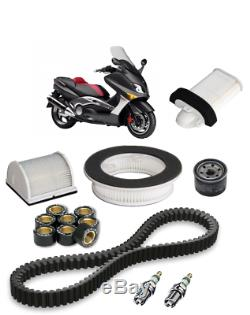 Kit Révision pr Yamaha 500 T-MAX 04/07 filtre à air huile bougie courroie galets