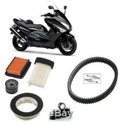 Kit Révision pr Yamaha 500 T-MAX 08/11 filtre à air huile bougie courroie galets