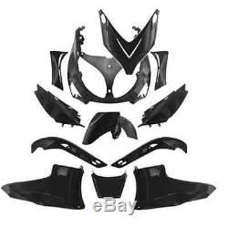 Kit carénage 12 pièces YAMAHA 500 T-MAX TMAX coques noir brillant plastique NEUF