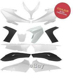 Kit carénage plastique 13 pièces blanc compétition Yamaha T-MAX 500 2008 à 2012