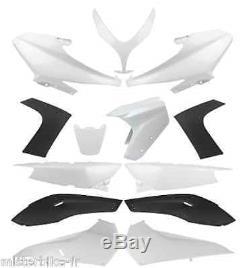 Kit carrosserie carénage 13 coque YAMAHA T-Max TMAX 500 2008-2012 Noir & Blanc