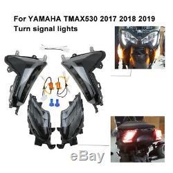 Led Clignotant Feux Avant + Arrière Pour Yamaha TMAX 530 T MAX 2017-2019 2018