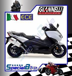 Ligne Complète Yamaha T-max 530 2017 Giannelli Ipersport Alu No Kat Euro 4