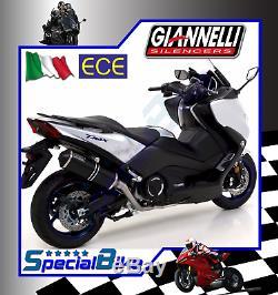 Ligne Complète Yamaha T-max 530 2017 Giannelli Ipersport Black No Kat Euro 4