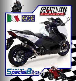 Ligne Complète Yamaha T-max 530 2017 Giannelli X-pro Nichrom No Kat Euro 4