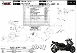 Ligne complet YAMAHA T-MAX 530 2019 2020 Oval MIVV Noir