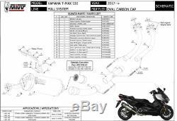 Ligne complet YAMAHA T-MAX 530 2019 2020 Oval MIVV Noir + Kat