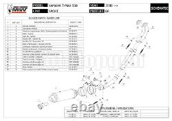 MIVV Ligne Complete Hom Gp Noir Yamaha T-max Tmax 500 2011 11