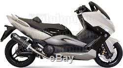 MIVV Ligne Complete Hom Oval Carbon Carbon Cap Yamaha T-max Tmax 500 2011 11
