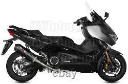 MIVV Ligne Complete Hom Oval Noir Carbon Cap Yamaha T-max Tmax 530 2017 17
