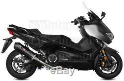 MIVV Ligne Complete Hom Oval Noir Carbon Cap Yamaha T-max Tmax 530 2019 19