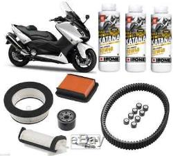 Pack Révision Courroie Filtre Bougies Huile 10w40 YAMAHA T-Max 530 TMax