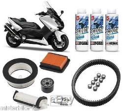 Pack Révision Courroie Filtre Bougies Huile IPONE Scoot4 10w40 YAMAHA T-MAX 530