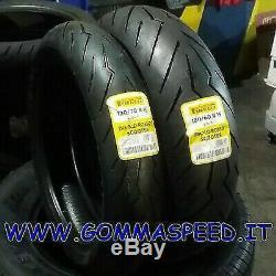Paire Pneus Pirelli Diablo Rosso 120/70/15 + 160/60/15 Yamaha T Max 530 DOT18