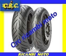 Paire pneus Scooter Pirelli Diablo rojo 120/70/15 + 160/60/15 YAMAHA T MAX 500