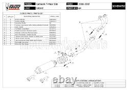 Pot Complete Homologue Gp Y. 018. L2s MIVV Yamaha T-max Tmax 500 2003 03 2004 04