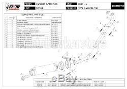 Pot Complete Homologue Oval Y. 028. L4c MIVV Yamaha T-max Tmax 500 2008 08 2009 09