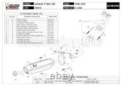 Pot Complete Homologue Suono Y. 018. L9 MIVV Yamaha T-max Tmax 500 2005 05 2006 06