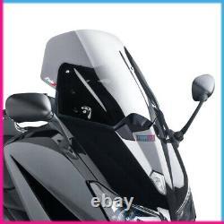 Puig Pare Brise V-tech Line Sport Pour Yamaha T-max 530 2014 Fume Clair