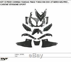 SET 12 PIÈCES CARÉNAGE YAMAHA TMAX T MAX 500 NOIR NEUTRE année 2001