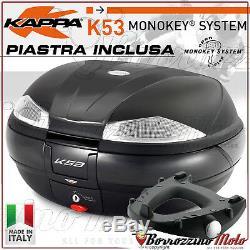 Top-case Kappa K53 Tech + Platine Monokey Yamaha T-max 500 2004 2005 2006 2007