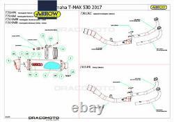 YAMAHA T-MAX 530 2019 Collecteur ARROW RC